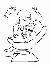 Coloring Dental Hygiene Popular Doctor Coloringhome sketch template