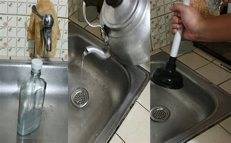 clogged sink vinegar baking soda how to clear a clogged drain with vinegar 10 steps