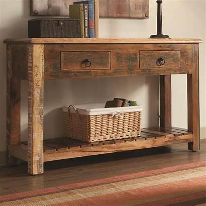 Console Table Wood Rustic Decor Furniture Sofa