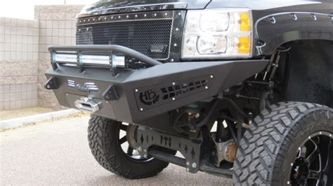 chevy  honeybadger winch front bumper