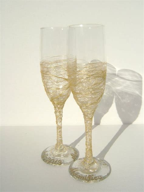 70 Best Wedding Toasting Flutes By Pure Beauty Art Images