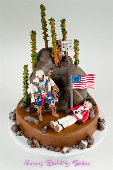 assassin creed iii birthday cake  connor british