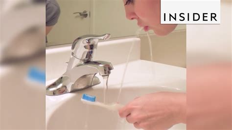 The Rinser Toothbrush Helps You Rinse Your Mouth After Brushing
