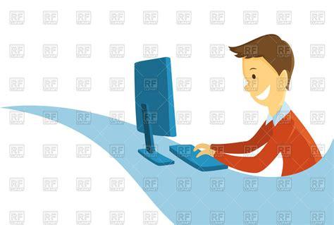 man working   computer programmer vector image