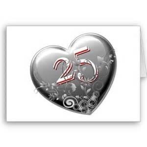 anniversaire de mariage 25 ans un joli coeur pour souhaiter vos 25 ans de mariage 25 coeur