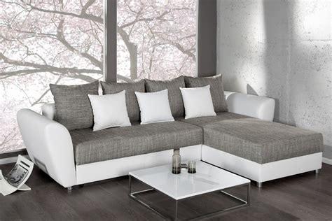 canapé blanc gris canape d 39 angle convertible blanc gris palma