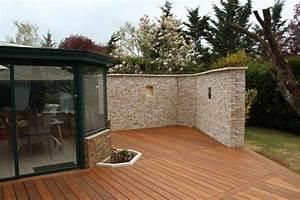 Terrasse Avec Muret : mur de terrasse meilleures images d 39 inspiration pour ~ Premium-room.com Idées de Décoration