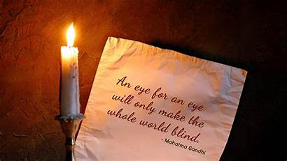Peace Gandhi Mahatma Quote Thoughts Quotes Wallpapers