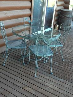 salterini wrought iron table and 4 chairs patio set