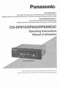 Panasonic Car Stereo System Dp830euc User Guide