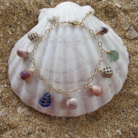 hawaiian shell bracelet shell jewelry gold charm