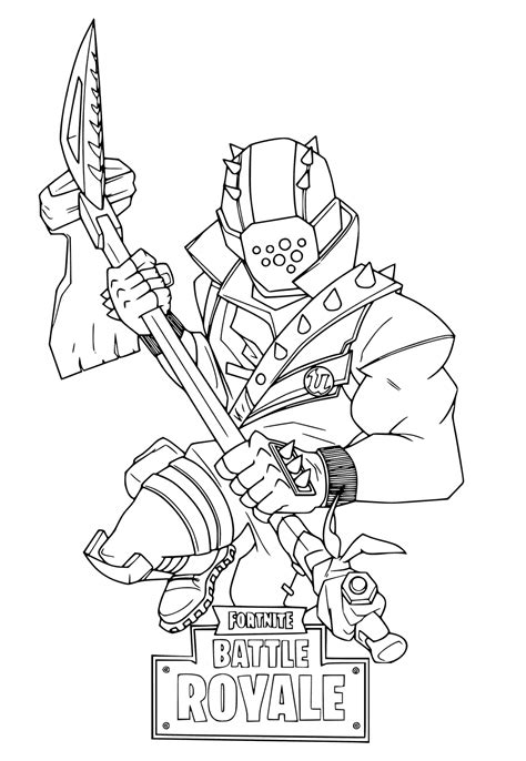 Kleurplaat Fortnite Drift by Fortnite Coloring Pages Getcoloringpages
