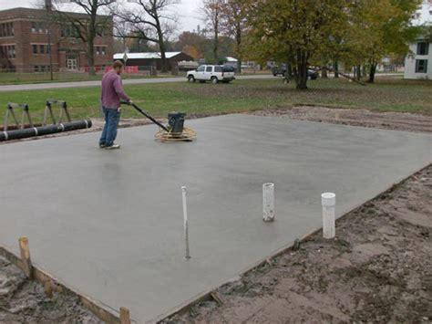 concrete slab for shed base site prep shed foundation info homestead structures