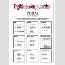 Englishspeaking Countries  Canada Worksheet  Free Esl Printable Worksheets Made By Teachers