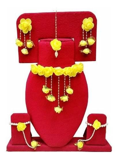 Jewellery Haldi Artificial Ceremony Flower Jaipur