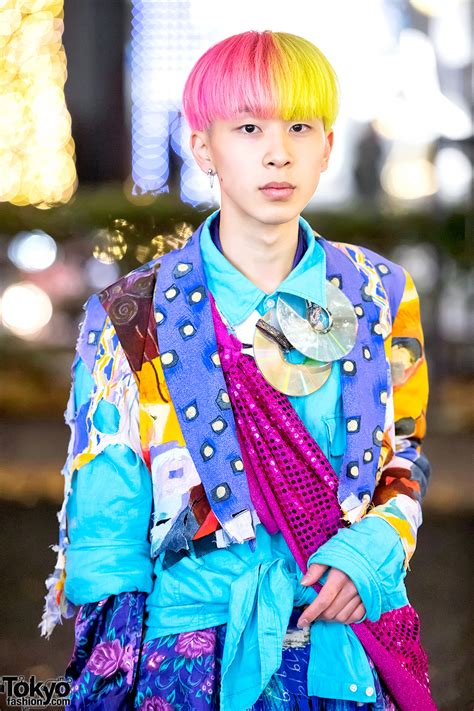 colorful harajuku menswear street style  vintage items