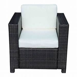 Salon De Jardin Rotin Tressé : fauteuil canape salon de jardin resine rotin tresse brun 1 ~ Premium-room.com Idées de Décoration