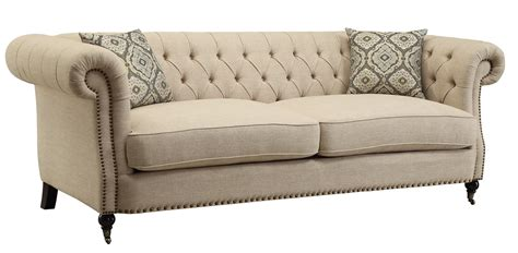 coaster trivellato traditional button tufted sofa with