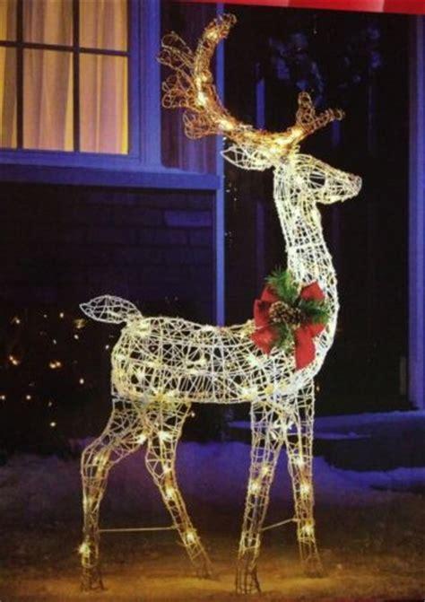 standing lighted deer christmas pre lit buck outdoor