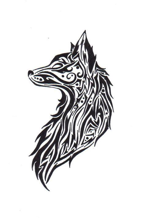 tribal wolf  theangelstar  deviantart draw