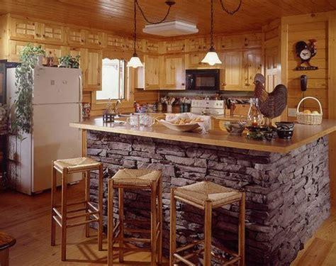 kitchen rock island отделка кухни декоративным камнем идеи оформления 5399