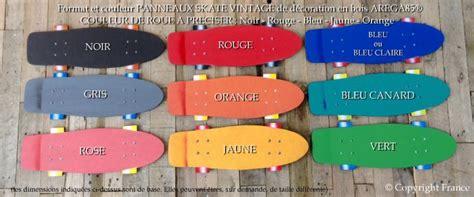 tableau pour chambre ado plaque skate rétro vintage decoration de porte
