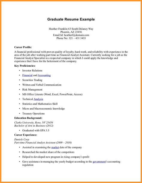 Part Time Resume by 10 Part Time Resume Exles Sle