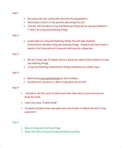 8 kindergarten lesson plan samples sample templates 111   Kindergarten Science Lesson Plan