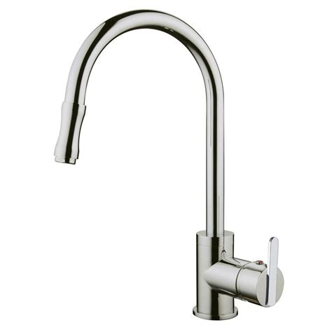 brushed nickel single handle kitchen faucet yosemite home decor single handle pull out sprayer kitchen