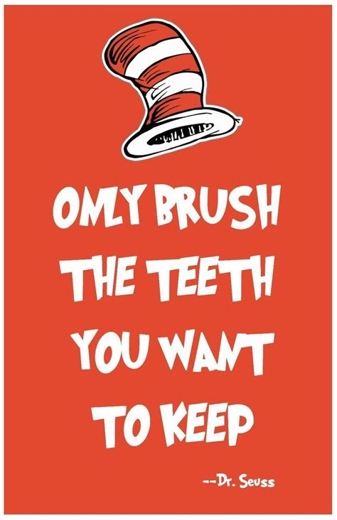 dr seuss wall art teeth print home decor quote poster