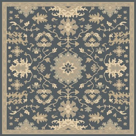 8x8 area rugs caesar navy taupe moss wool square area rug 8x8 the