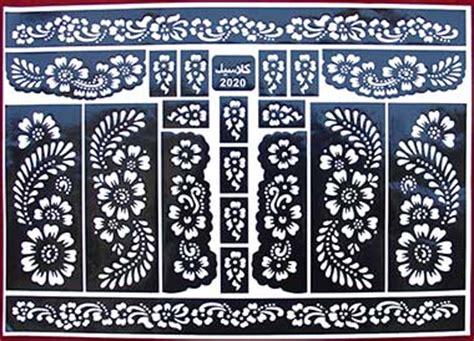 henna schablonen boutique alle hennaschablonen f 252 r hennatattoos bzw henna im 220 berblick