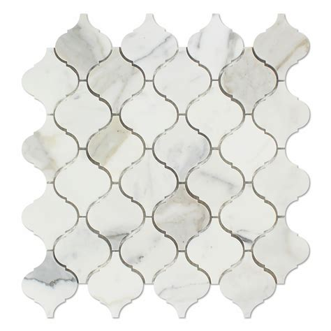 arabesque mosaic tile calacatta gold marble polished lantern arabesque mosaic tile calacatta gold marble marble