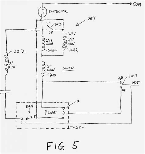 Single Phase Motor Wiring Diagram With Capacitor Start