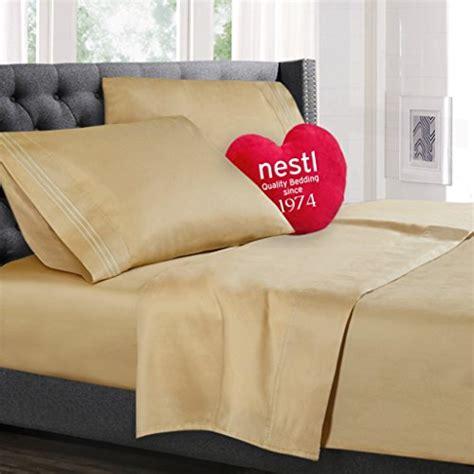 split king size bed sheets set royal gold camel best