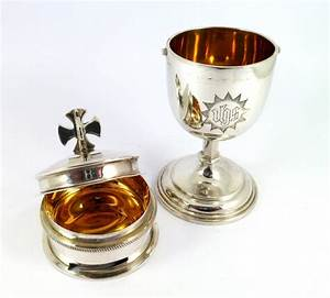 Very Fine George V Solid Silver Travelling Communion Set ...