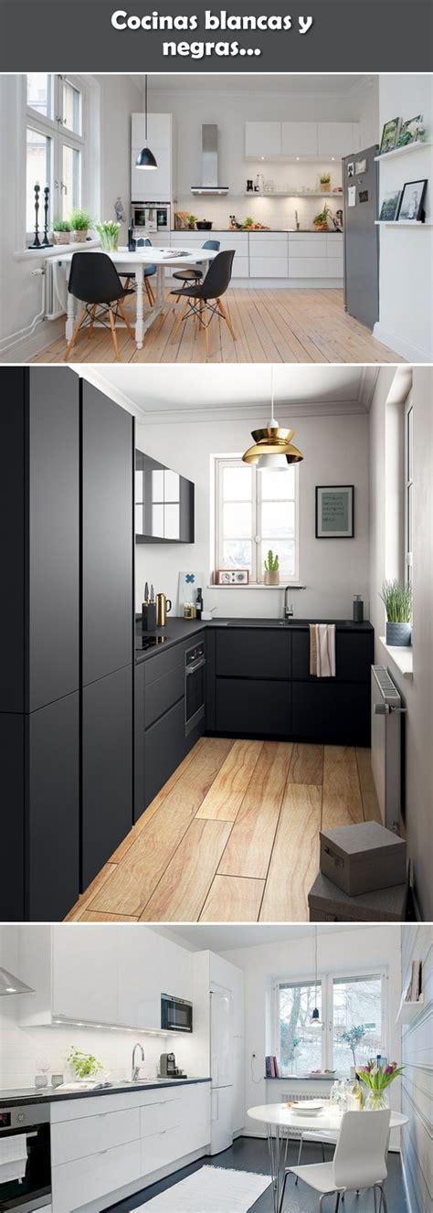 cocinas blancas  negras diseno cocinas modernas cocina blanca  negra  cocinas blancas