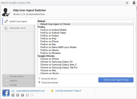 user agent switcher chrome favorite chromebook extensions tip extension android