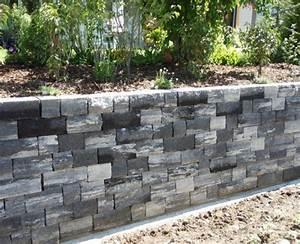 Günstig Mauer Bauen : garten steinmauer selber bauen ~ Whattoseeinmadrid.com Haus und Dekorationen