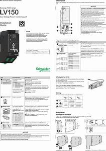 Schneider Electric France Easergylv150 Easergy Lv150 Low
