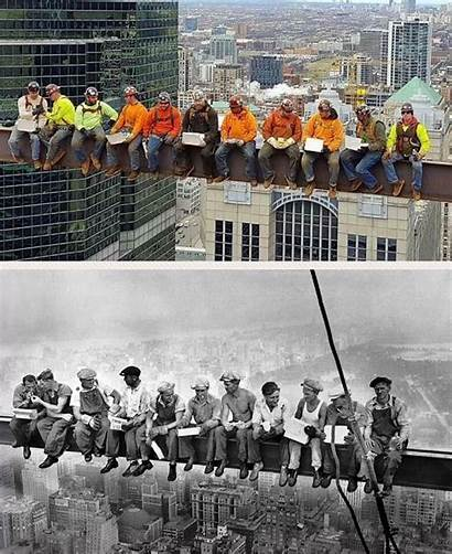 Workers Lunch Skyscraper Iron Atop Chicago 1932