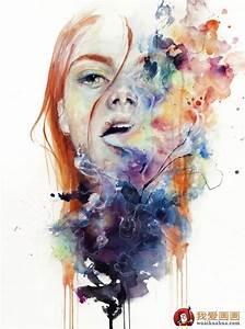 抽象唯美人物水彩画作品欣赏(2)_水彩画知识_绘画入门_我爱画画网
