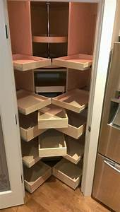 Massive L Shaped Corner Kitchen Pantry Cabinet Combined