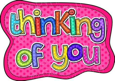 Thinking Of You Clipart Thinking Of You Stitch Font Clip Prawny