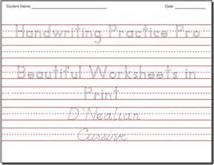 Worksheet Handwriting Practice Sheets