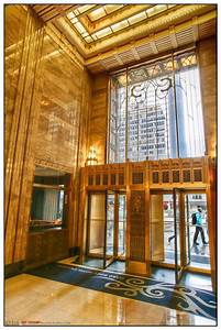 carbide carbon building lobby hdr creme With art deco interior chicago