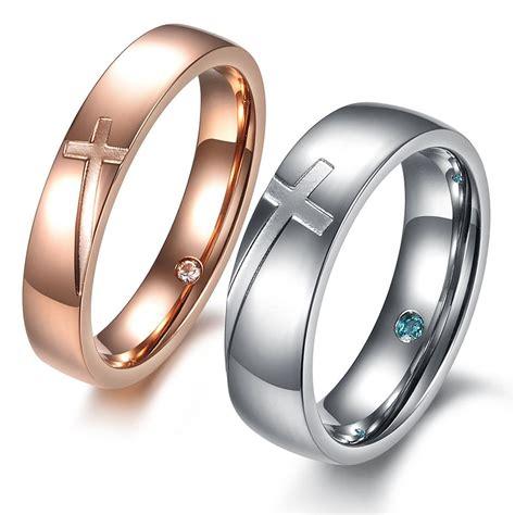 cross titanium matching engagement rings yoyoon