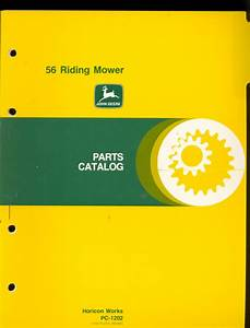 John Deere Parts Manual 56 Riding Mower