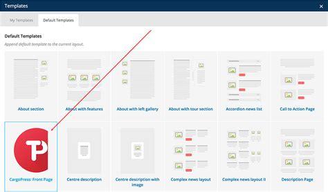 visual composer templates cargopress theme documentation documentation