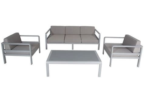 canapé 120 cm salon de jardin alu canapé 3 p 2 fauteuils avec